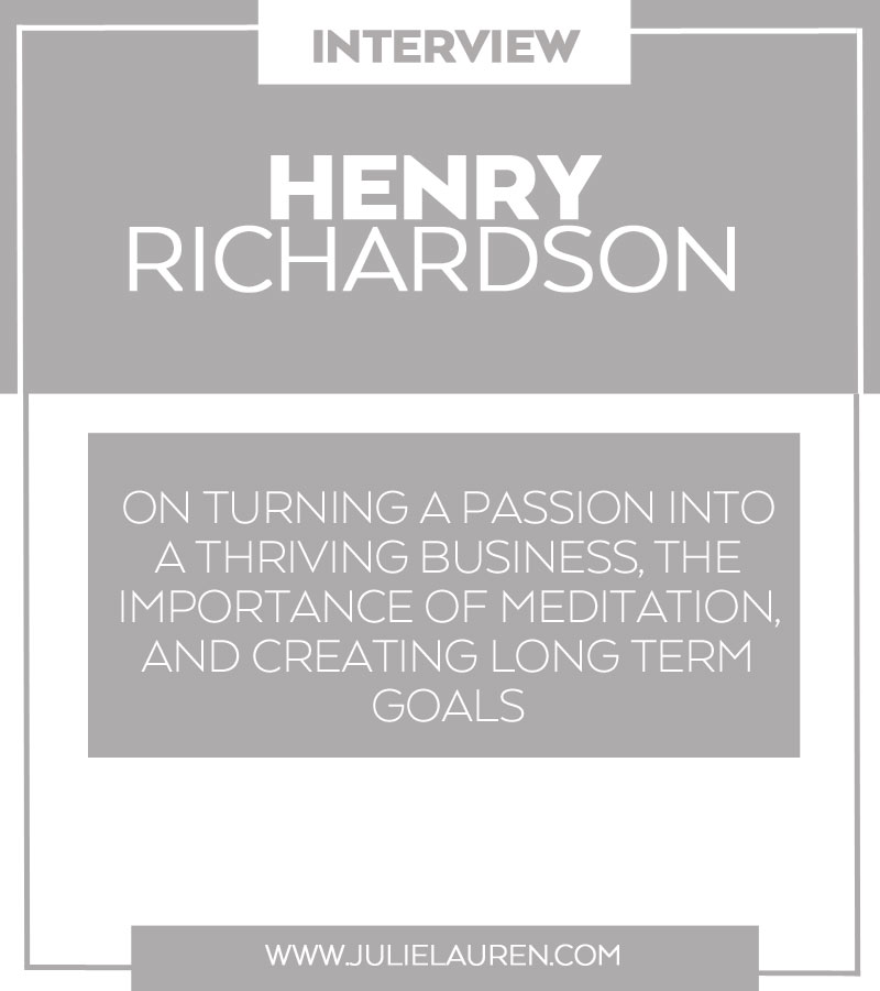 An Interview with Henry Richardson